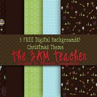 5 FREE Christmas Themed Digital Backgrounds!