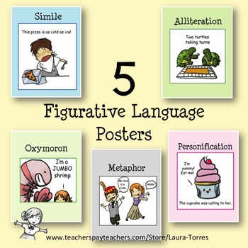 5 Figurative Language Posters