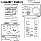 5 Large Geometry Posters