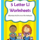 5 Letter L Worksheets / Alphabet Worksheets