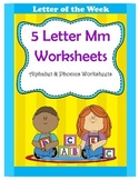 5 Letter M Worksheets / Alphabet & Phonics Worksheets