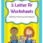 5 Letter R Worksheets / Alphabet &amp; Phonics Worksheets
