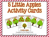 5 Little Apples Activity Cards