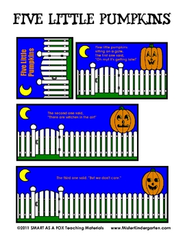 5 Little Pumpkins Flip Book