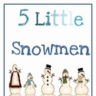 5 Little Snowman Book &amp; Activities