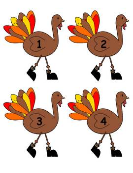 5 Little Turkeys Set 2 / Flannelboard Pieces