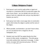 5 Major World Religions Project