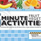 5 Minute Fruit and Vegetable Activities