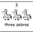 5 Sets of 5 Number Cards - Numbers 1 to 5