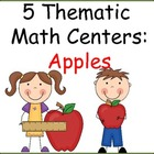 5 Thematic Math Centers:  Apples