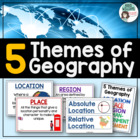 Five / 5 Themes of Geography Posters and Word Wall