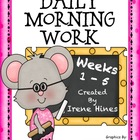 5 Week Morning Work Activity Pack ~ Language Arts and Math
