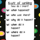 Dots on Black 5 W's Writing Sign