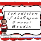 5 edition of Cajun fonts:  Boudin