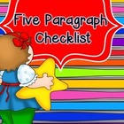 5 paragraph writing checklist