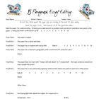 5 paragraph editing questionnaire