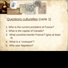 &quot;5 questions&quot;: cultural questions on the French-speaking world