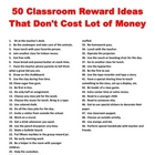 50 Classroom Reward Ideas That Don't Cost A Lot of Money