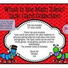 50 Finding Main Idea Task Cards/Flash Cards, Partner, Smal
