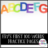 50 Kindergarten Sight Words worksheets