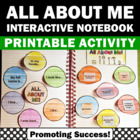 Interactive Notebook All About Me Back to School Fall Activities