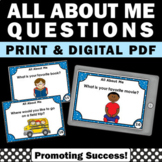 Back to School All About Me Printable Activities Getting t