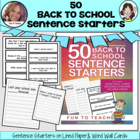 50 Sentence Starters Back to School