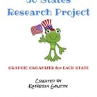 50 States Research Project Graphic Organizers