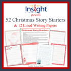 52 Christmas Story Starters Creative Writing Prompts &amp; Lin