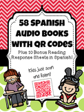 58 Spanish Audio Books with QR Codes {Plus 10 BONUS Readin