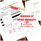 5.NF.3 - Division of Whole Numbers With Answers that are F
