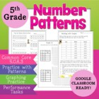 5.OA.3 5th Grade Number Patterns For Common Core