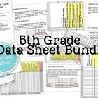 5th Common Core Math Test Excel Data Sheets BUNDLE - ALL UNITS