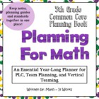 5th Grade Back To School Math Planner