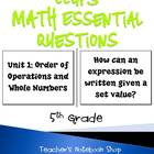 5th Grade CCGPS Math Essential Questions