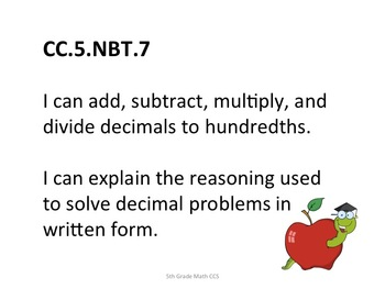 5th Grade CCS Math for Posting Generic Nomenclature- Stude