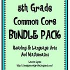 5th Grade Common Core BUNDLE {Reading & Language Arts; Mat