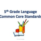 5th Grade Common Core Conventions Standards - Student Friendly