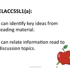 5th Grade Common Core ELA Standards for Posting - Student