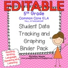 5th Grade Common Core: ELA/Literacy *ALL STANDARDS* {Stude