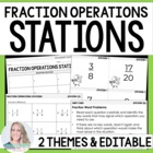 5th Grade Common Core Fraction Operations Math Stations {V