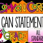 "5th Grade Common Core ""I CAN"" Statements - ELA/Math BUNDLE"