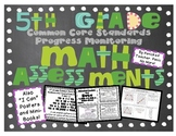 5th Grade Common Core Math Assessments (All Standards)
