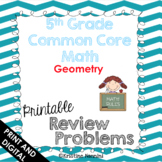 5th Grade Common Core Math Review Problems {Geometry}