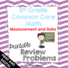 5th Grade Common Core Math Homework Printables Measurement