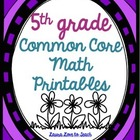5th Grade Common Core Math Pack