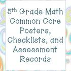 5th Grade Common Core Math Packet (Rockin' Theme)