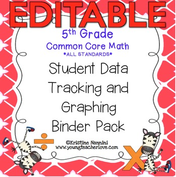 5th Grade Common Core: Math {Student Data Tracking Binder Pack} *ALL STANDARDS*