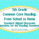 5th Grade Common Core Reading Discussion Questions: From S