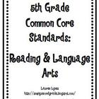 5th Grade Common Core: Reading & Language Arts
